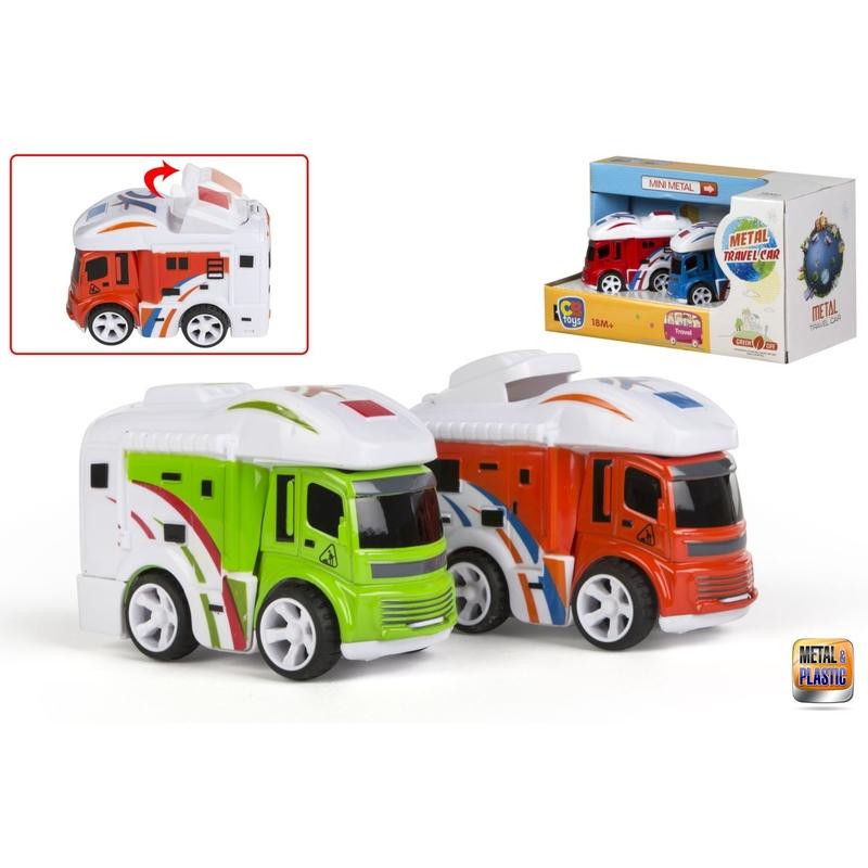 Set 2 masinute caravana cu frictiune