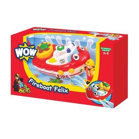 WOW Toys - BARCA POMPIER FELIX (JUC BAIE) imagine