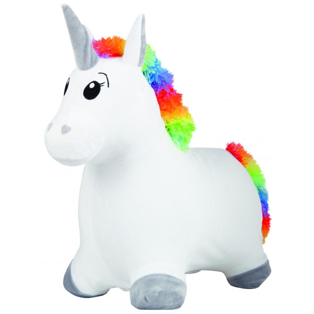 Saritor gonflabil John Unicorn alb cu husa plusata