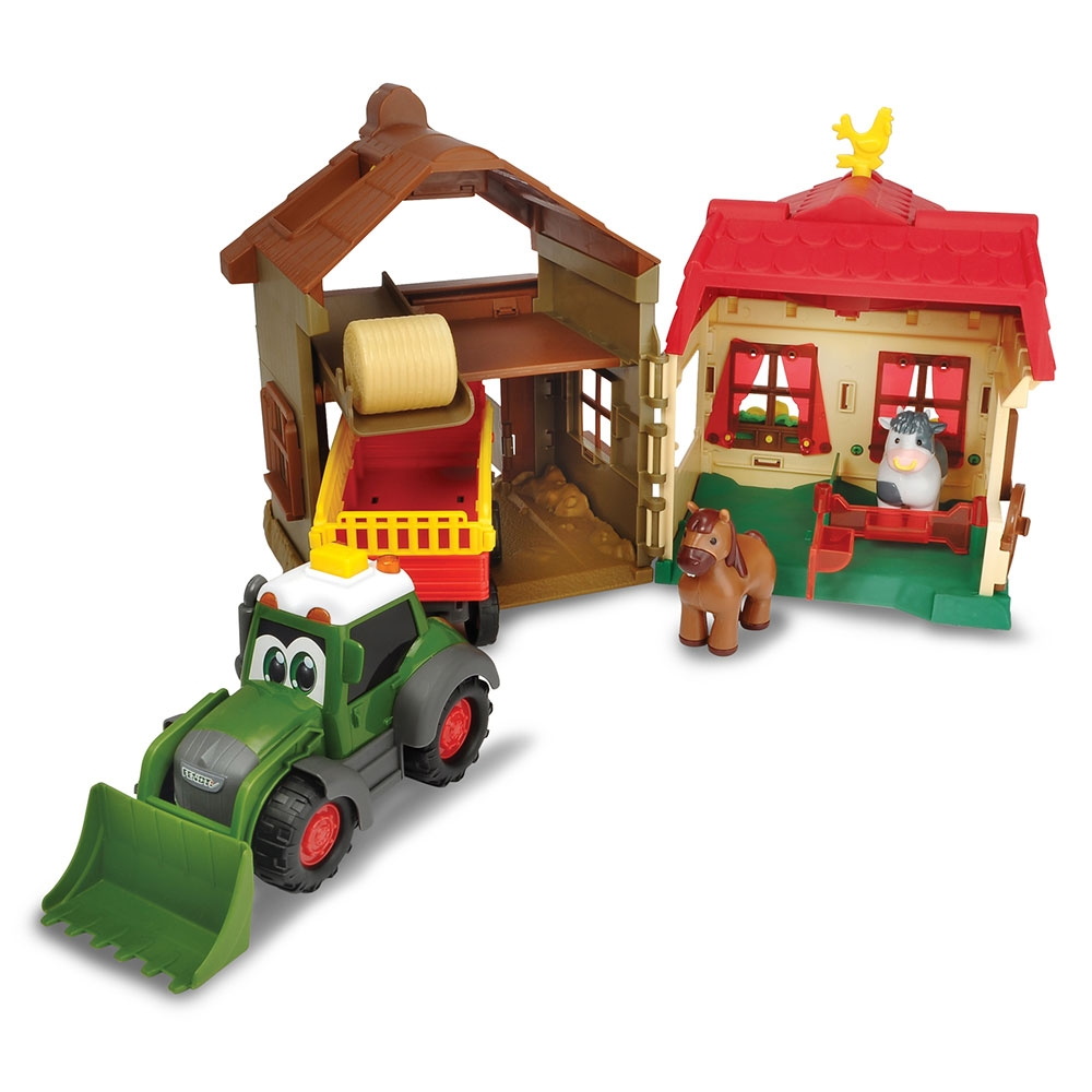 Set Dickie Toys Happy Farm House cu tractor si accesorii