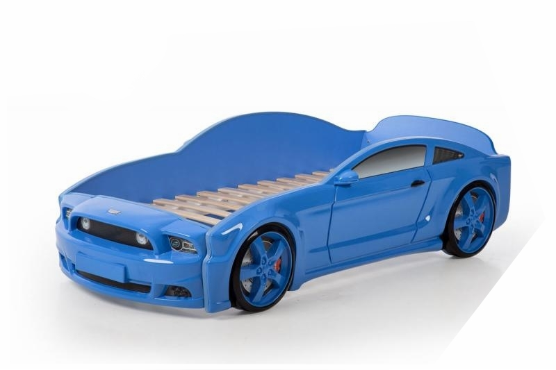 Pat masina tineret MyKids Light-MG 3D Albastru imagine