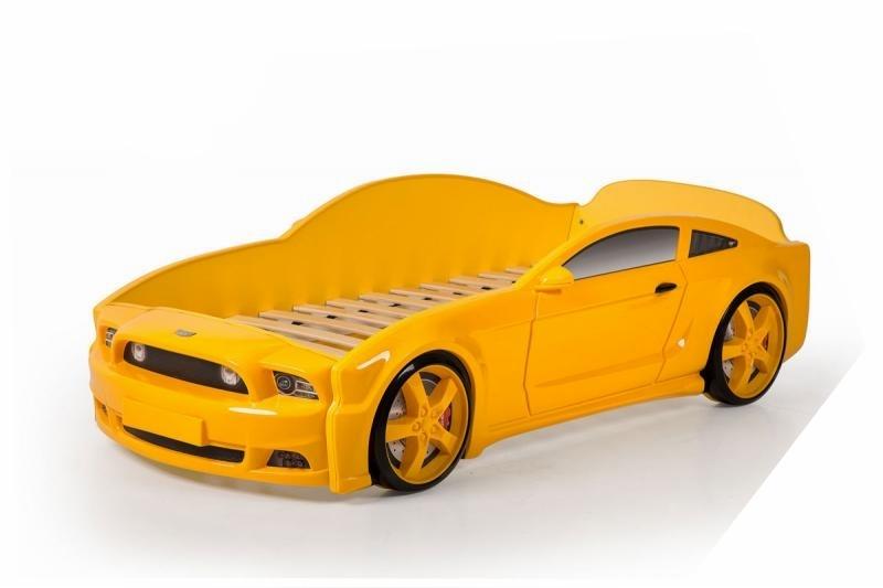 Pat masina tineret MyKids Light-MG 3D Galben imagine