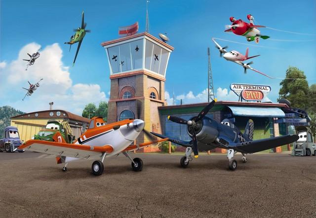 "Fototapet ""aeroport"" - Colectia Disney"