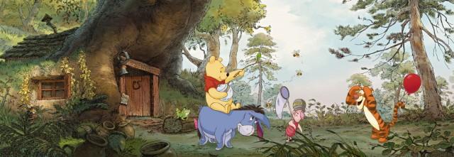 Fototapet Cu Winnie ''acasa La Pooh''