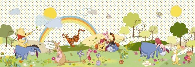 """Fototapet Cu Winnie """"o Zi Frumoasa"""" - Colectia Disney"""
