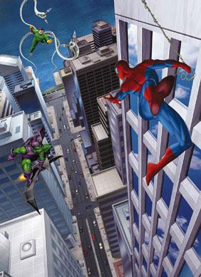 Poze Fototapet 'spiderman Si Villains' imagine