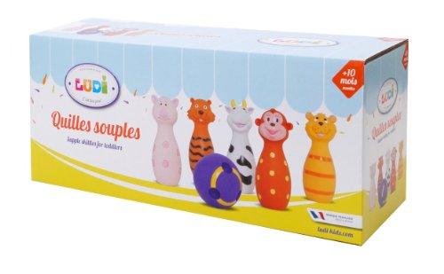 Ludi Set De Popice Soft  Cu Animalute