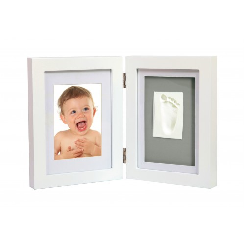Adora - kit rama foto dubla cu amprenta mulaj manuta sau piciorus imagine