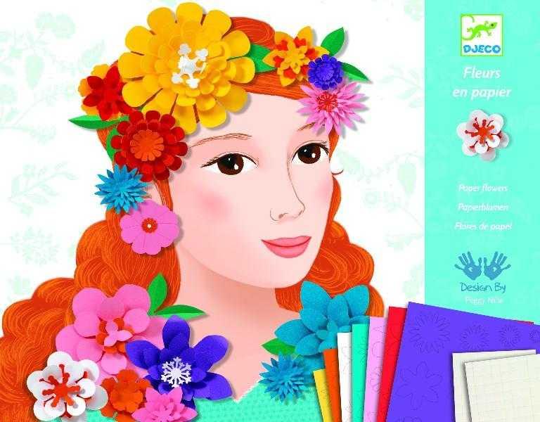 Atelier djeco colaj flori