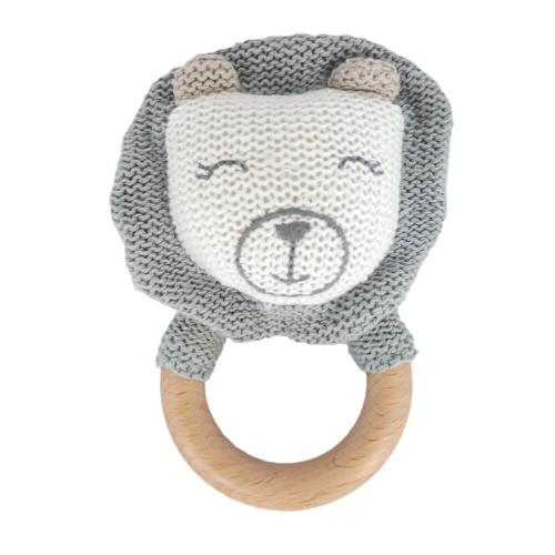 Baby hug - jucarie crosetata pentru dentitie - model leu imagine