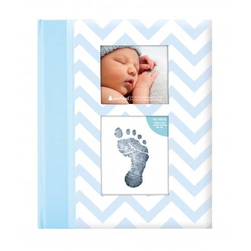 Pearhead - caietul bebelusului cu amprenta cerneala blue imagine