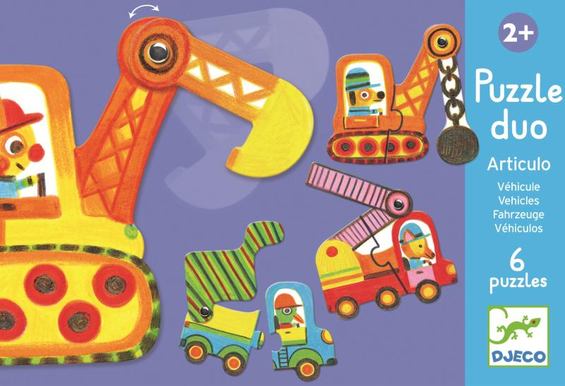 Puzzle duo mobil vehicule imagine