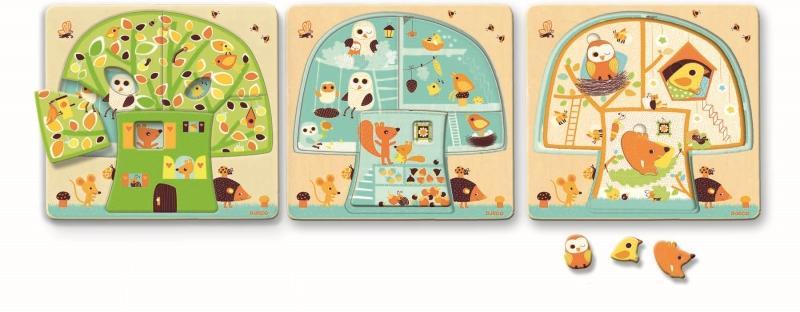 Puzzle lemn copacul djeco imagine