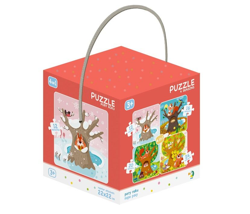 Puzzle 4 in 1 - Anotimpurile (12, 16, 20, 24 piese)