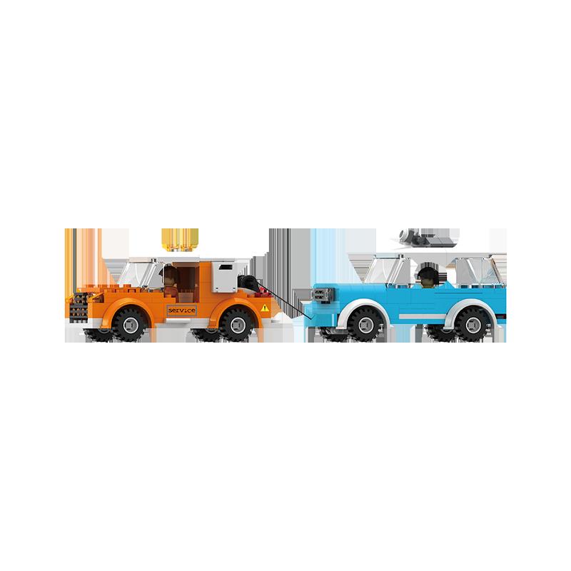 Set cuburi constructie MyCity Service auto, 686 piese, Blocki