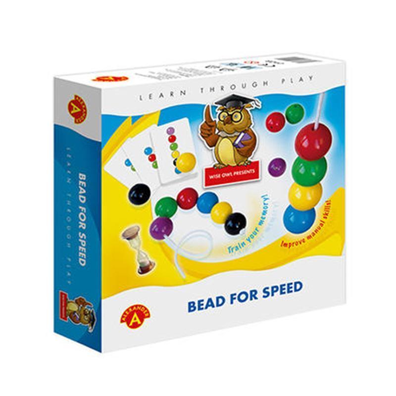 Joc educativ margele jumbo de insirat Bead for Speed, Alexander Games