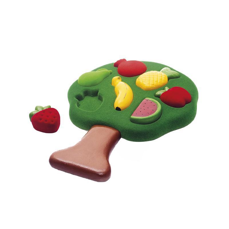 Jucarie sortator forme 3D din cauciuc natural Fructele, Rubbabu imagine