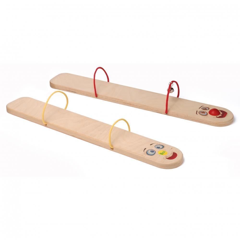 Ski-uri tandem din lemn pentru 2 copii, Erzi