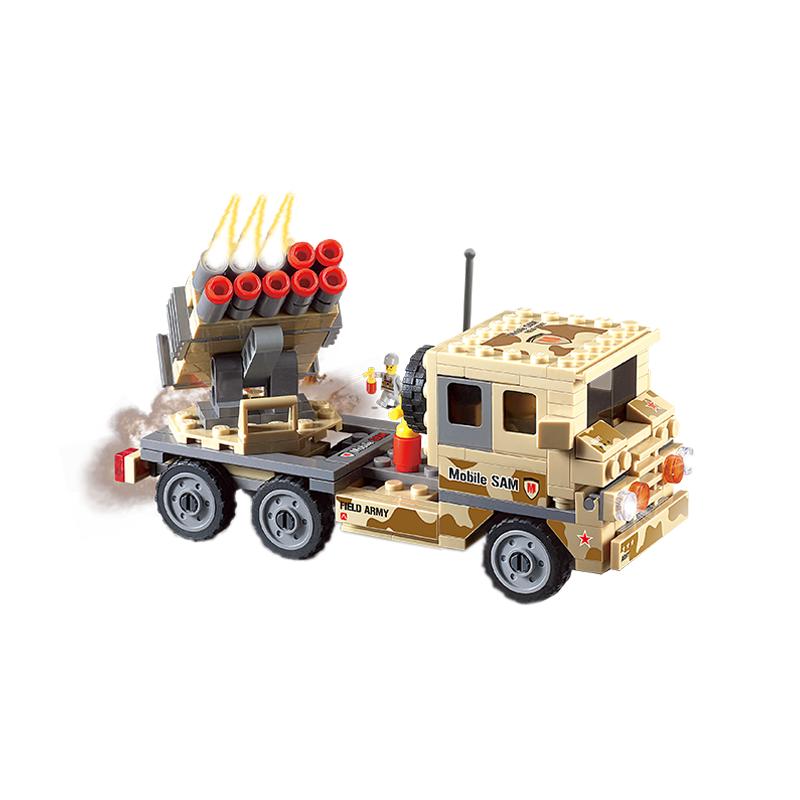 Set cuburi constructie MyArmy Lansator de rachete, 210 piese, Blocki