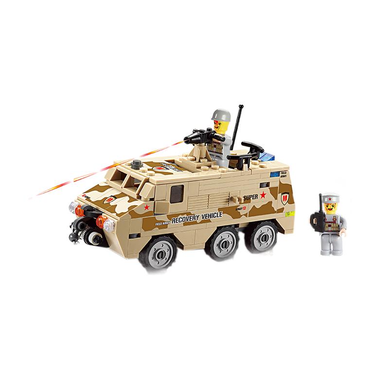 Set cuburi constructie MyArmy Vehicul militar de atac, 180 piese, Blocki