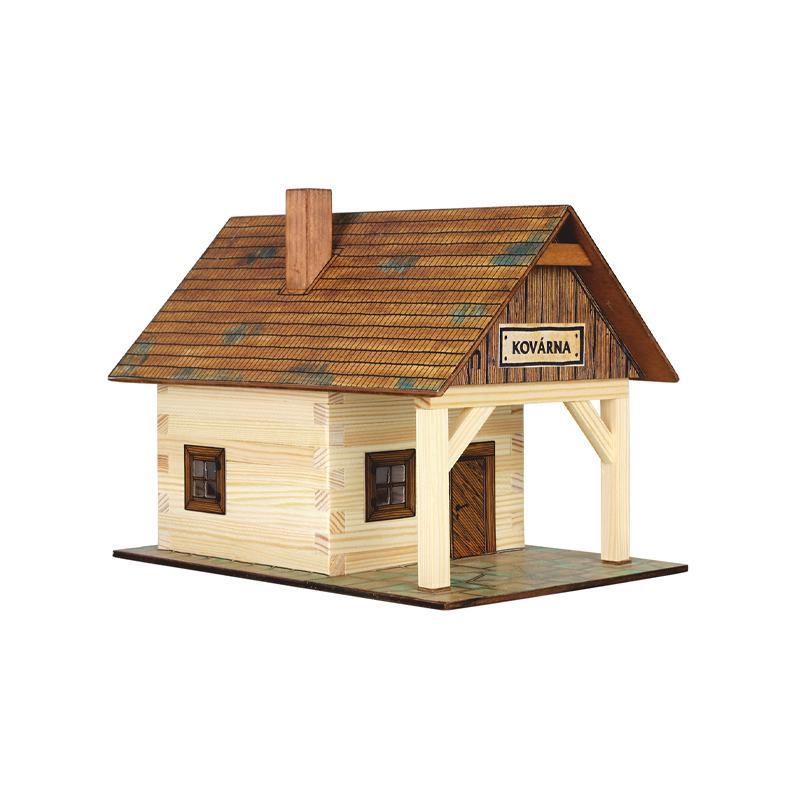 Set constructie arhitectura Fierarie, 86 piese din lemn, Walachia