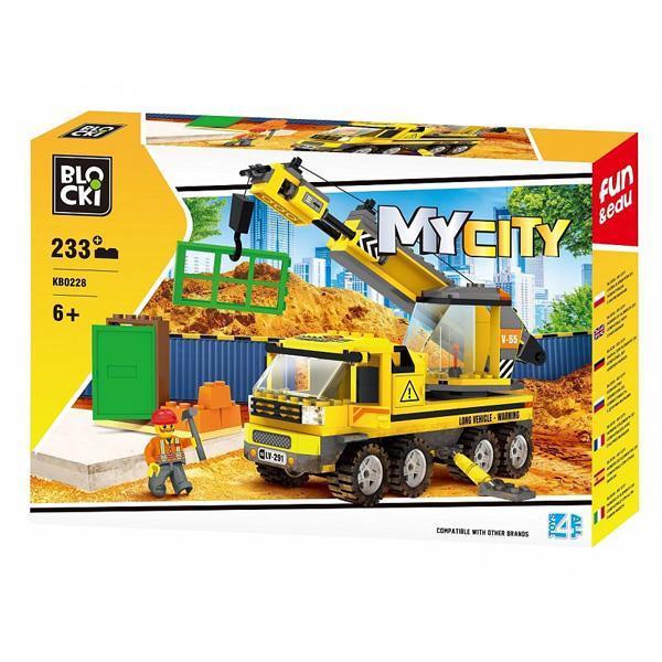 Set cuburi constructie MyCity Masina de tractari, 233 piese, Blocki