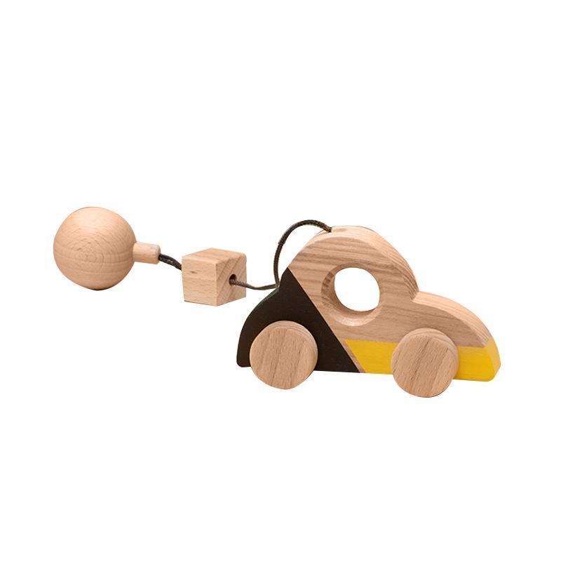 Jucarie din lemn masina Beetle, colorat, pentru carusel / centru de activitati, Mobbli