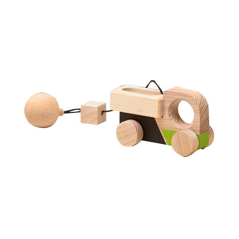 Jucarie din lemn camion, colorat, pentru carusel / centru de activitati, Mobbli imagine