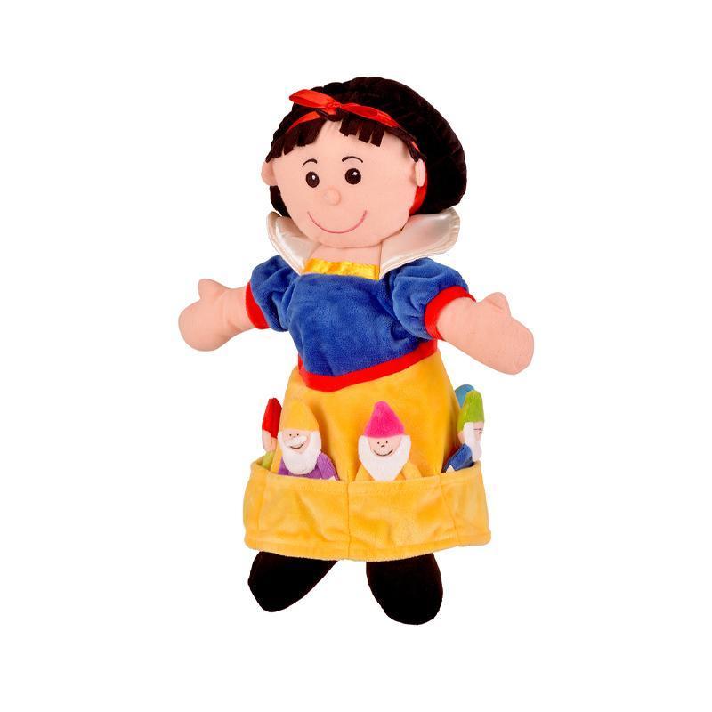 Set Marioneta Alba-ca-Zapada pentru teatru papusi, hand-puppet, 3 ani+, Fiesta