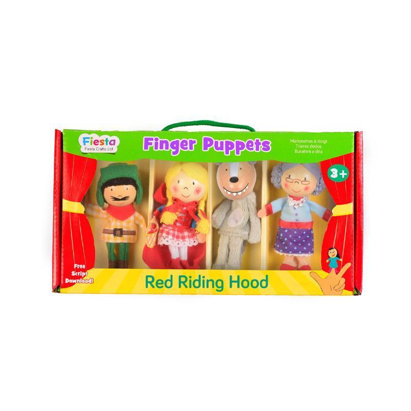 Set marionete deget Scufita Rosie pentru teatru papusi, finger-puppet, 3 ani+, Fiesta