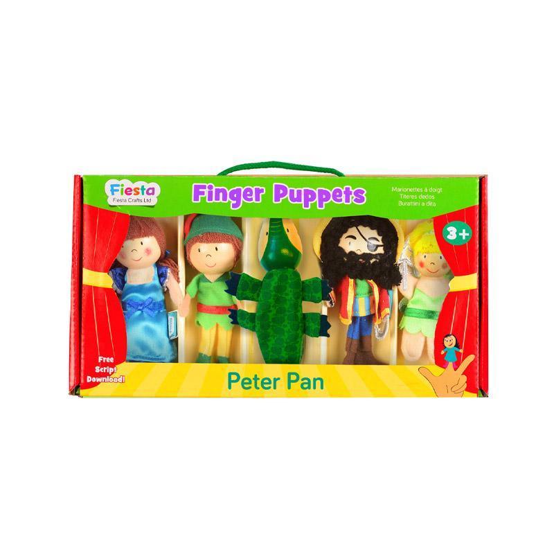 Set marionete deget Peter Pan pentru teatru papusi, finger-puppet, 3 ani+, Fiesta