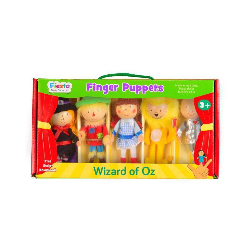 Set marionete deget Vrajitorul din Oz pentru teatru papusi, finger-puppet, 3 ani+, Fiesta