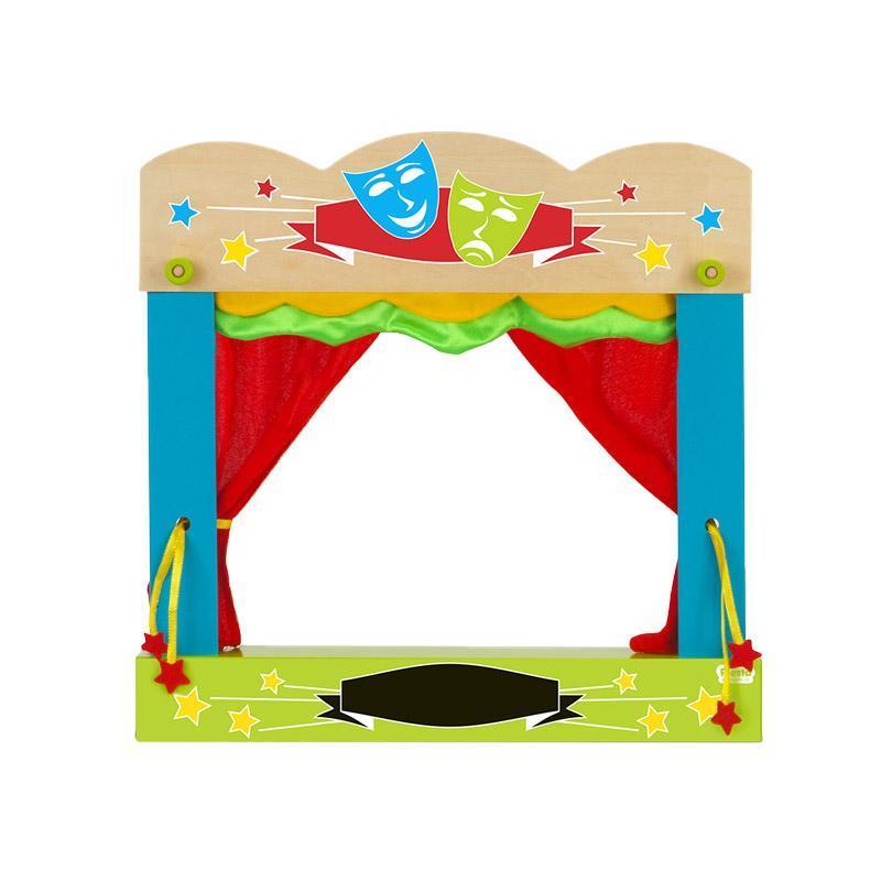Teatru papusi tip servieta pentru finger-puppets, 3 ani+, Fiesta
