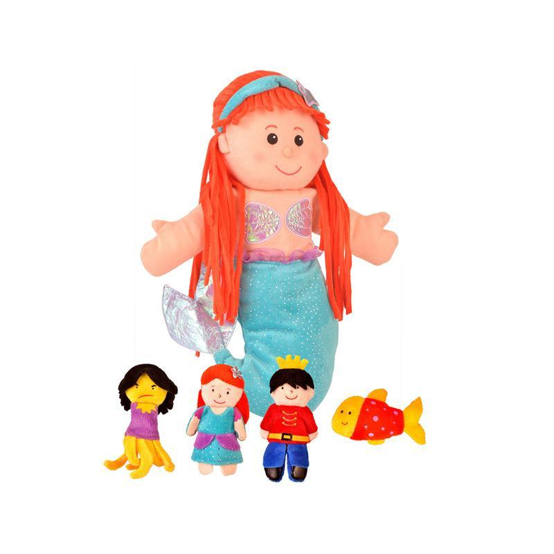 Set Marioneta Micuta Sirena pentru teatru papusi, hand-puppet, 3 ani+, Fiesta