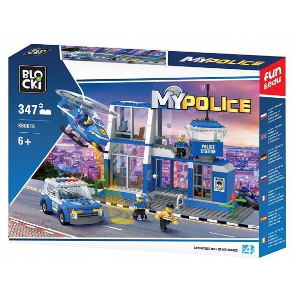 Set cuburi constructie MyPolice Post de politie, 347 piese, Blocki