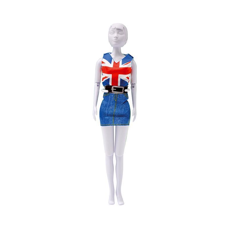 Set de croitorie hainute pentru papusi Couture Combi Red Blue, Dress Your Doll