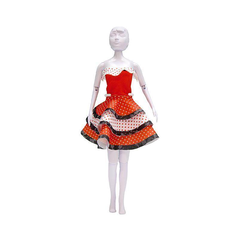 Set de croitorie hainute pentru papusi Couture Maggy Flamenco, Dress Your Doll