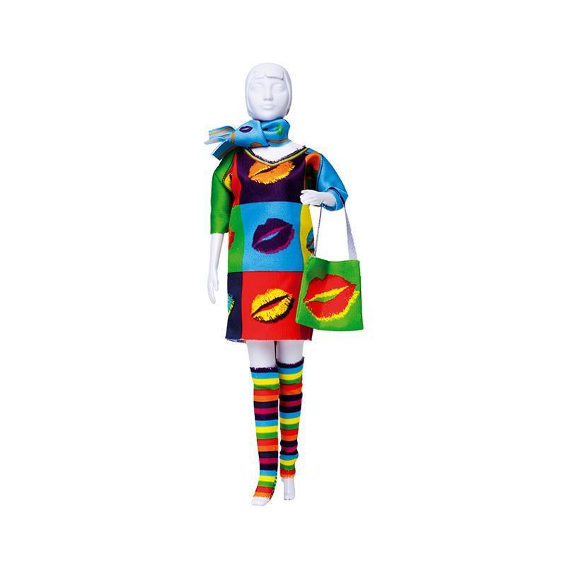 Set de croitorie hainute pentru papusi Couture Sally Kiss, Dress Your Doll