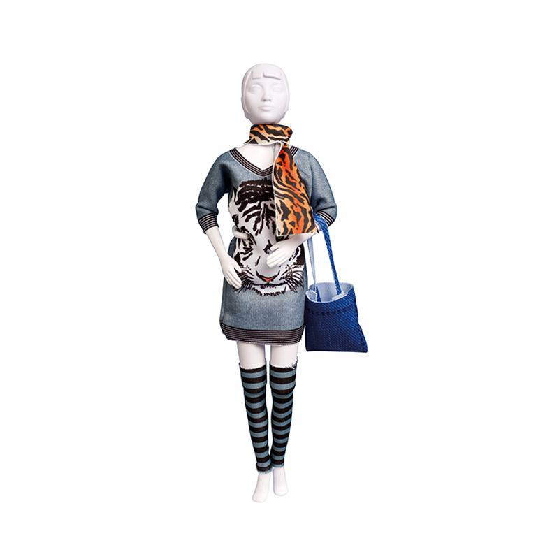Set de croitorie hainute pentru papusi Couture Sally Tiger, Dress Your Doll
