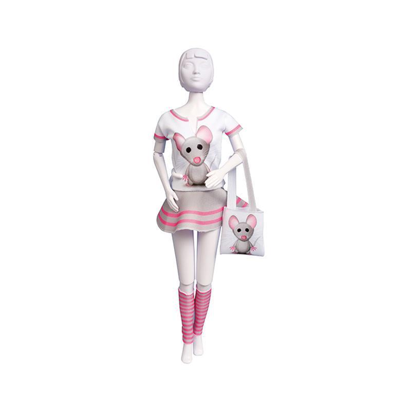 Set de croitorie hainute pentru papusi Couture Tiny Mouse, Dress Your Doll