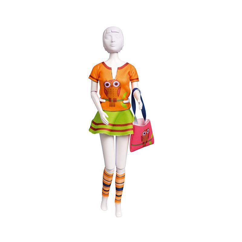 Set de croitorie hainute pentru papusi Couture Tiny Owl, Dress Your Doll