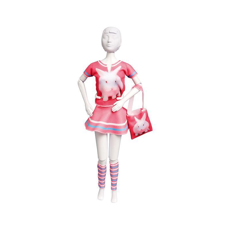Set de croitorie hainute pentru papusi Couture Tiny Rabbit, Dress Your Doll