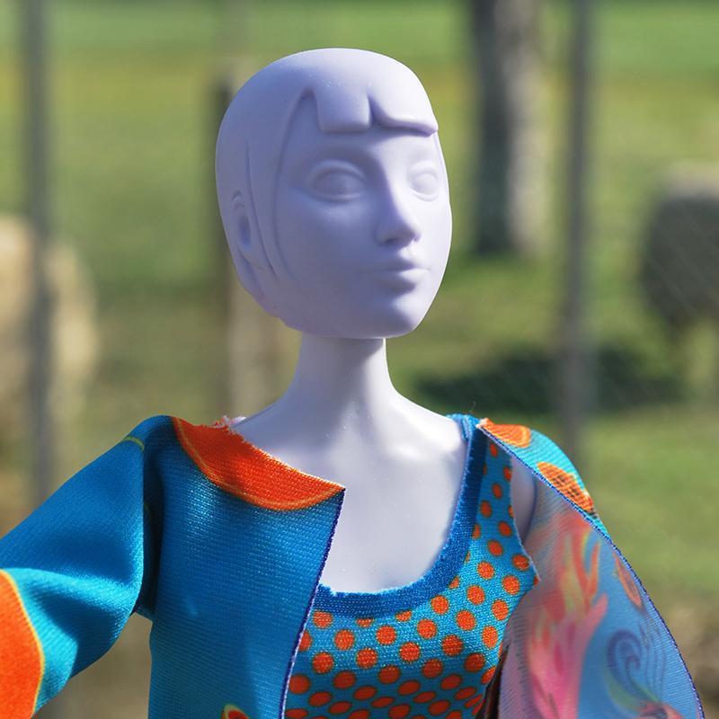 Set de croitorie hainute pentru papusi Couture Betty Phoenix, Dress Your Doll