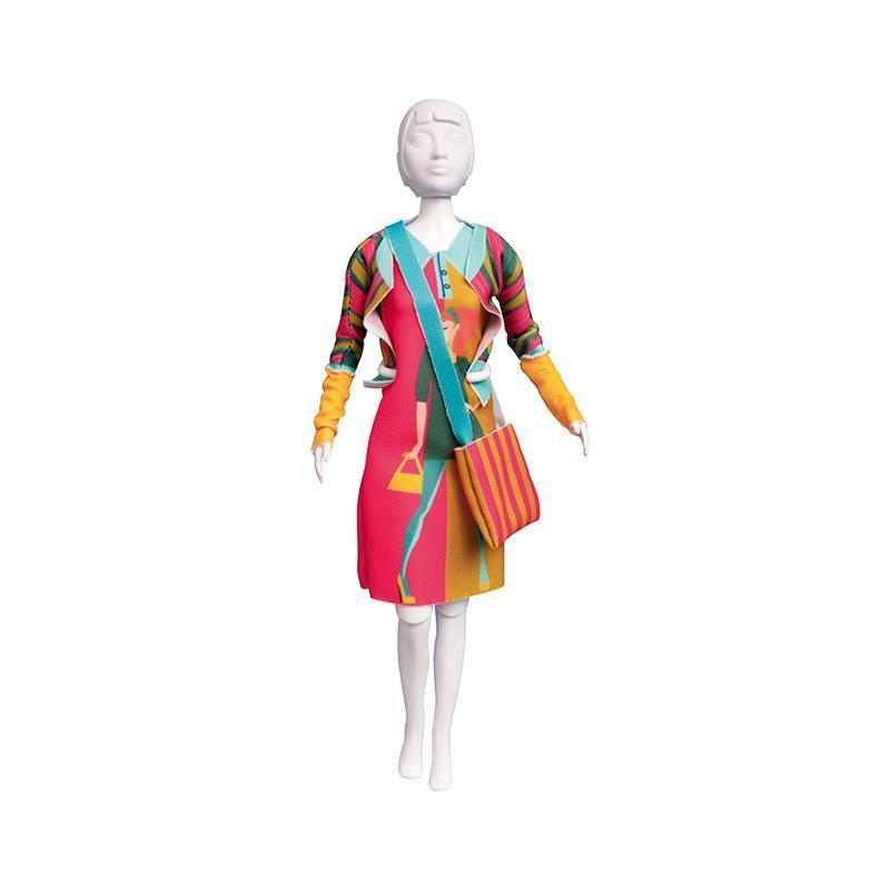Set de croitorie hainute pentru papusi Couture Lizzy Model, Dress Your Doll