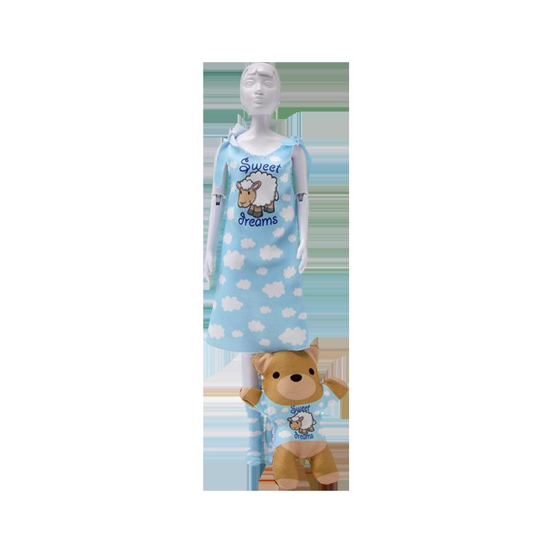 Set de croitorie hainute pentru papusi Couture Sleepy Sweet Dreams, Dress Your Doll