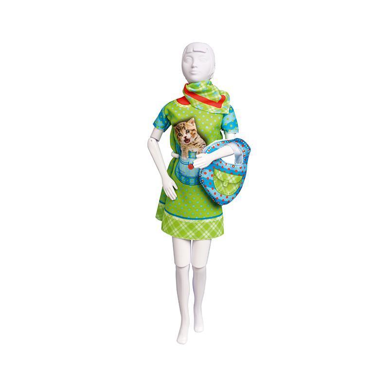 Set de croitorie hainute pentru papusi Couture Twiggy Kitten, Dress Your Doll