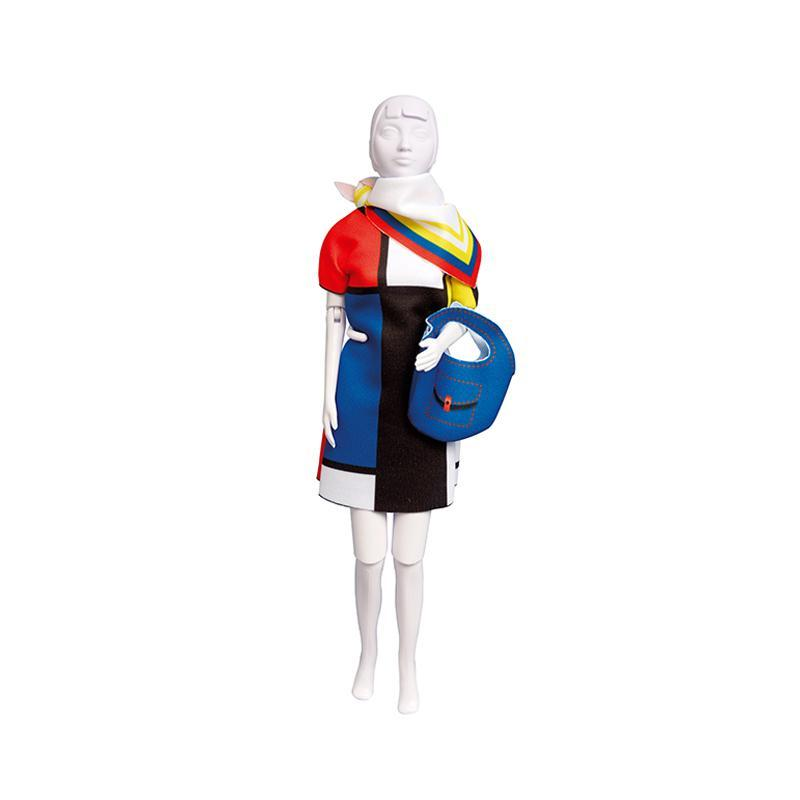 Set de croitorie hainute pentru papusi Couture Twiggy Mondriaan, Dress Your Doll