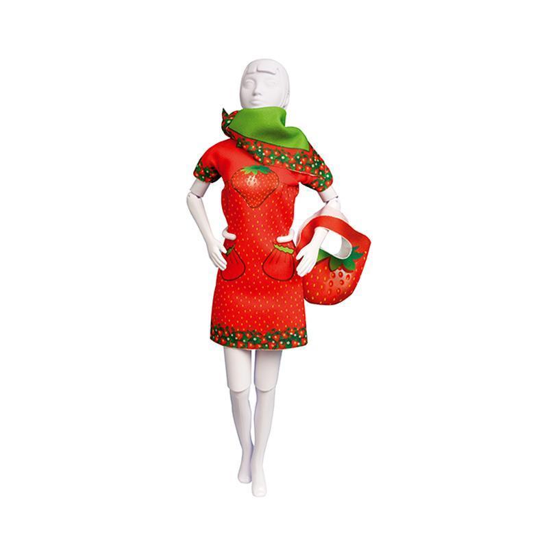 Set de croitorie hainute pentru papusi Couture Twiggy Strawberry, Dress Your Doll
