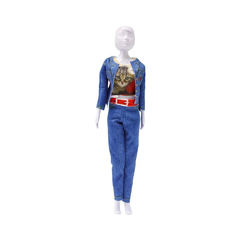 Set de croitorie hainute pentru papusi Couture Kitty Cat, Dress Your Doll