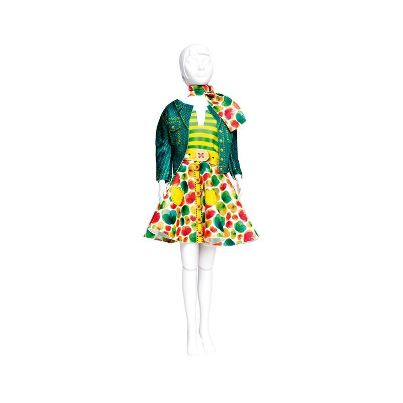 Set de croitorie hainute pentru papusi Couture Lucy Green, Dress Your Doll